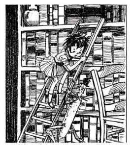 Emília e Visconde na Ilustração  de André Le Blanc.